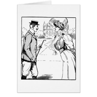 Bypassers on a Walk, Card