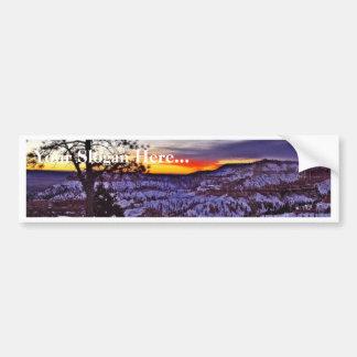 Byrce Canyon Sunrises Morning Winter Car Bumper Sticker