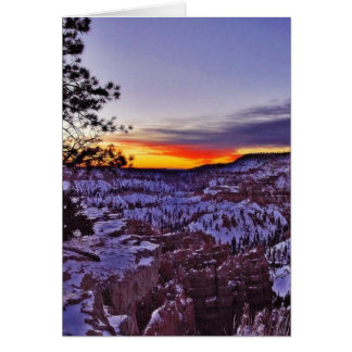 Byrce Canyon Sunrises Morning Winter Card