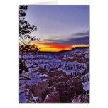 Byrce Canyon Sunrises Morning Winter Cards