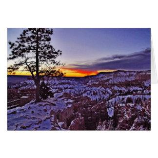 Byrce Canyon Sunrises Morning Winter Greeting Card