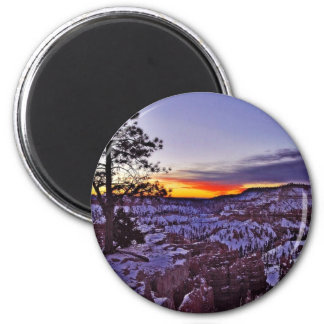 Byrce Canyon Sunrises Morning Winter Magnet