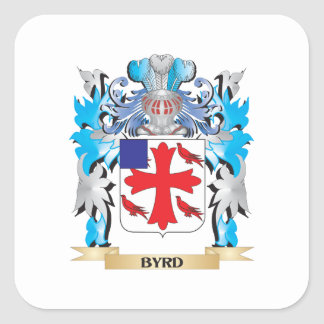 Byrd Coat of Arms Square Sticker