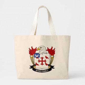 Byrd Family Crest Large Tote Bag