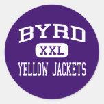 Byrd - Yellow Jackets - High - Shreveport Round Sticker