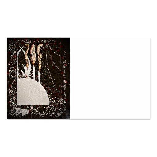 Byrds de la palabra en negro tarjeta de visita