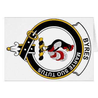 Byres Clan Badge Card