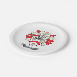 Byrne Coat of Arms Paper Plate
