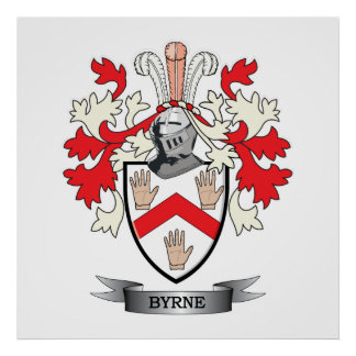 Byrne Coat of Arms Poster