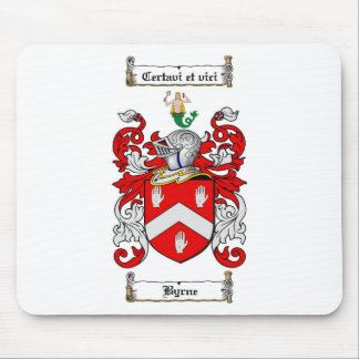BYRNE FAMILY CREST -  BYRNE COAT OF ARMS MOUSE PAD