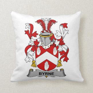 Byrne Family Crest Throw Pillows
