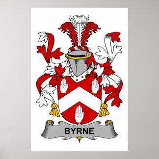 Byrne Family Crest Poster