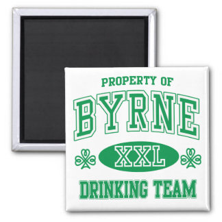 Byrne Irish Drinking Team 2 Inch Square Magnet