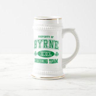 Byrne Irish Drinking Team Beer Stein