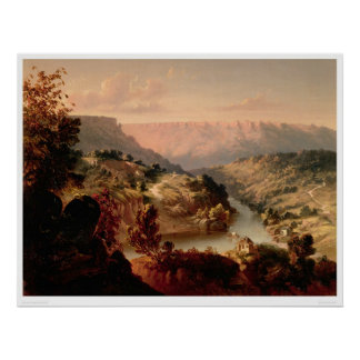 Byrnes Ferry on the Stanislaus River (0707A) Poster