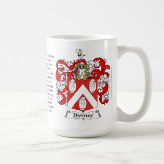 Byrnes, the Origin, the Meaning and the Crest Mugs