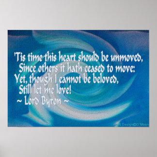 """Byron """"aunque no puedo ser"""" poster querido de la póster"""