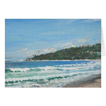 Beach Themed Byron Bay Australia. 27/11/1998 Card