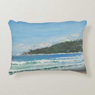 Beach Themed Byron Bay Australia. 27/11/1998 Decorative Pillow