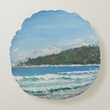 Beach Themed Byron Bay Australia. 27/11/1998 Round Pillow