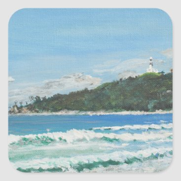 Beach Themed Byron Bay Australia. 27/11/1998 Square Sticker