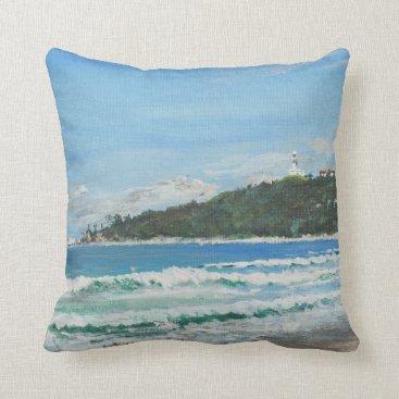 Beach Themed Byron Bay Australia. 27/11/1998 Throw Pillow