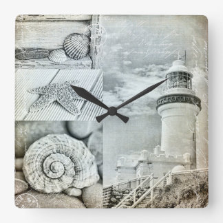 Byron Bay Lighthouse Square Wall Clock