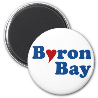 Byron Bay with Heart Magnet