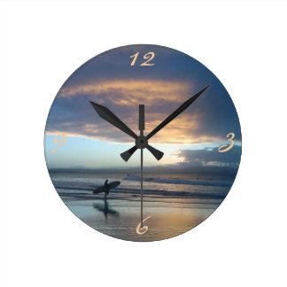 Byron Beauty - The Pass Sunset wall clock