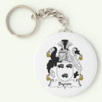 Byron Family Crest Keychain