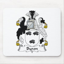 Byron Family Crest Mousepad
