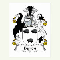 Byron Family Crest Postcard