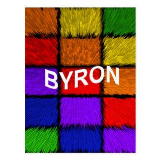 BYRON ( male names ) Postcard