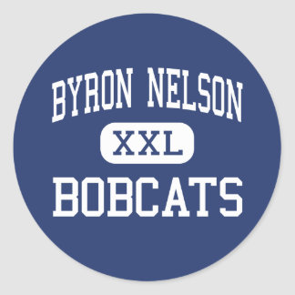 Byron Nelson - linces - alta - club Tejas del Pegatina Redonda