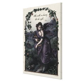 """Byron """"She Walks in Beauty"""" Victorian Art Canvas"""