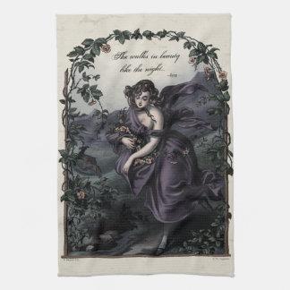 """Byron """"She Walks in Beauty"""" Victorian Tea Towel"""