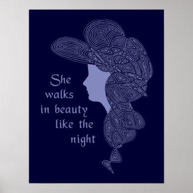 Byron's Lady Poster print