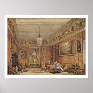 Byron's Room in Palazzo Mocenigo, Venice (w/c on p Poster
