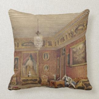 Byron's Room in Palazzo Mocenigo, Venice (w/c on p Throw Pillow