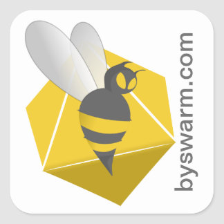 bySwarm Square Stickers