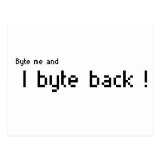 Byte me and I byte Back ! Postcard