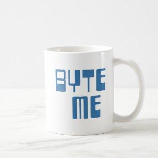 Byte Me Classic White Coffee Mug