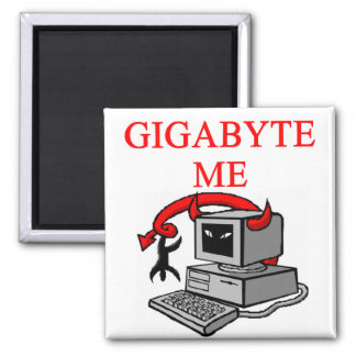 BYTE me insult 2 Inch Square Magnet