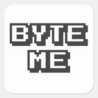 Byte Me Square Sticker