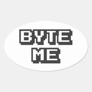 Byte Me Oval Sticker