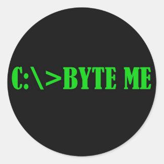 BYTEME.jpg Classic Round Sticker
