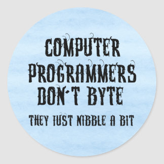Byting Programmers Classic Round Sticker