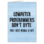 Byting Programmers Greeting Cards