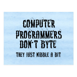 Byting Programmers Postcard