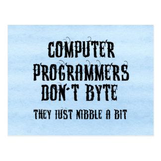 Byting Programmers Postcard